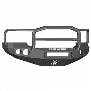 Ford F250/F350 Super Duty - Ford Superduty 2005-2007 - Road Armor - Road Armor 60505B-NW Stealth Non-Winch Front Bumper with Lonestar Guard and Round Light Holes for Ford F250/F350/F450/Excursion 2005-2007