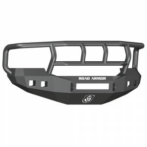 Ford F250/F350 Super Duty - Ford Superduty 2005-2007 - Road Armor - Road Armor 605R2B-NW Stealth Non-Winch Front Bumper with Titan II Guard and Square Light Holes for Ford F250/F350/F450/Excursion 2005-2007