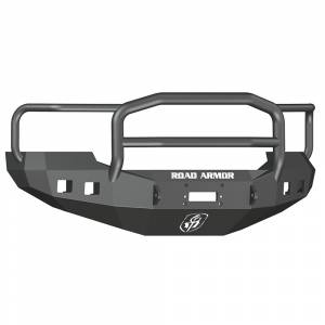 Ford F250/F350 Super Duty - Ford Superduty 2005-2007 - Road Armor - Road Armor 605R5B Stealth Winch Front Bumper with Lonestar Guard and Square Light Holes for Ford F250/F350/F450/Excursion 2005-2007