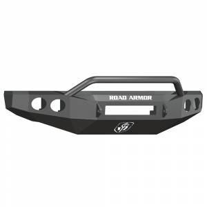 Ford F250/F350 Super Duty - Ford Superduty 2008-2010 - Road Armor - Road Armor 60804B-NW Stealth Non-Winch Front Bumper with Pre-Runner Guard and Round Light Holes for Ford F250/F350/F450 2008-2010