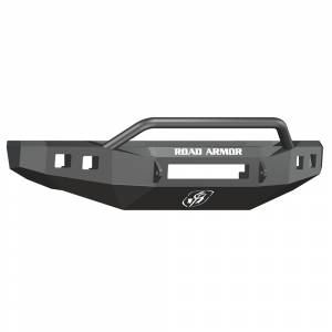 Road Armor 608R4B-NW Stealth Non-Winch Front Bumper with Pre-Runner Guard and Square Light Holes for Ford F250/F350/F450 2008-2010