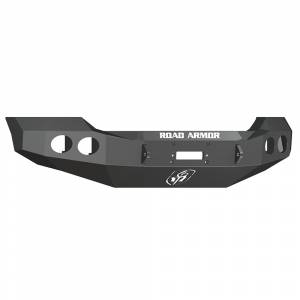 Road Armor - Road Armor 611400B Stealth Winch Front Bumper with Round Light Holes for Ford F450/F550 2011-2016