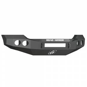 Road Armor - Road Armor 611400B-NW Stealth Non-Winch Front Bumper with Round Light Holes for Ford F450/F550 2011-2016