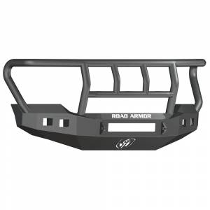 Road Armor - Road Armor 6114R2B-NW Stealth Non-Winch Front Bumper with Titan II Guard and Square Light Holes for Ford F450/F550 2011-2016
