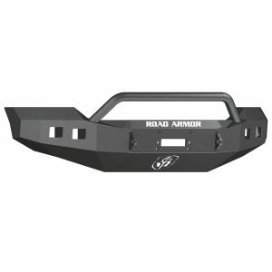 Road Armor - Road Armor 6114R4B Stealth Winch Front Bumper with Pre-Runner Guard and Square Light Holes for Ford F450/F550 2011-2016