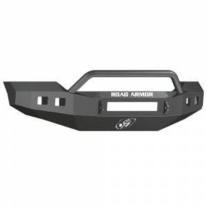 Road Armor - Road Armor 6114R4B-NW Stealth Non-Winch Front Bumper with Pre-Runner Guard and Square Light Holes for Ford F450/F550 2011-2016