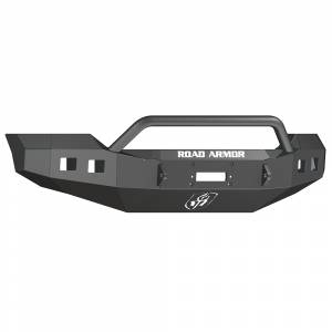 Road Armor 611R4Z Stealth Winch Front Bumper with Pre-Runner Guard and Square Light Holes for Ford F250/F350 2011-2016