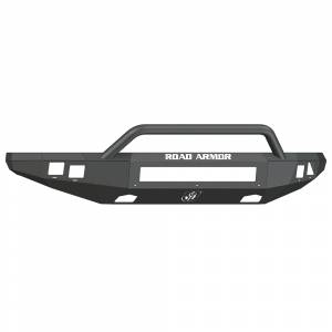 Ford Raptor - Ford Raptor 2010-2014 - Road Armor - Road Armor 614R4B-NW Stealth Non-Winch Front Bumper with Pre-Runner Guard and Square Light Holes for Ford F150 Raptor 2010-2014