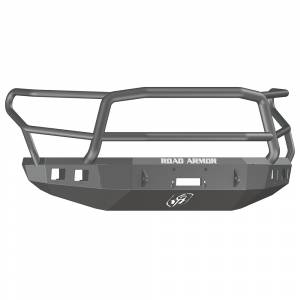 Road Armor - Road Armor 914R5B Stealth Winch Front Bumper with Lonestar Guard and Square Light Holes for Toyota Tundra 2014-2020 - Image 1