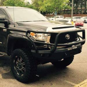 Road Armor - Road Armor 914R5B Stealth Winch Front Bumper with Lonestar Guard and Square Light Holes for Toyota Tundra 2014-2020 - Image 4