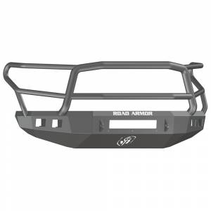 Road Armor - Road Armor 914R5B-NW Stealth Non-Winch Front Bumper with Lonestar Guard and Square Light Holes for Toyota Tundra 2014-2020 - Image 1