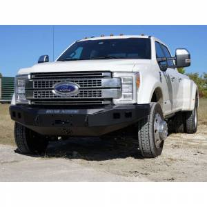 Road Armor - Road Armor 61740B Stealth Winch Front Bumper with Square Light Holes for Ford F450/F550 2017-2018