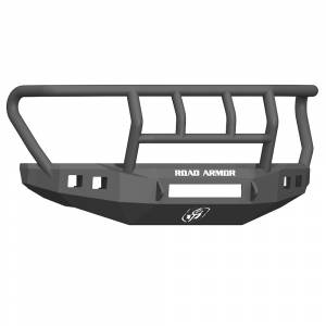 Road Armor - Road Armor 61742B-NW Stealth Non-Winch Front Bumper with Titan II Guard and Square Light Holes for Ford F450/F550 2017-2018