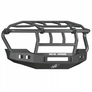 Road Armor - Road Armor 6114R3B-NW Stealth Non-Winch Front Bumper with Intimidator Guard and Square Light Holes for Ford F450/F550 2011-2016