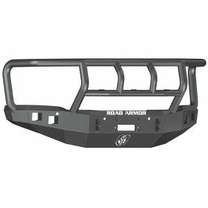 Road Armor - Road Armor 214R2B Stealth Winch Front Bumper with Titan II Guard and Square Light Holes for GMC Sierra 1500 2014-2015