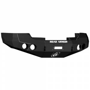 Road Armor 37600B Stealth Winch Front Bumper with Round Light Holes for GMC Sierra 1500 2008-2013