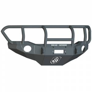 Road Armor FJ801B Stealth Winch Front Bumper with Titan II Guard and Round Light Holes for Toyota FJ Cruiser 2006-2014