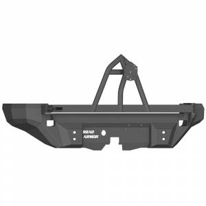Shop Bumpers By Vehicle - Hummer - Road Armor - Road Armor 12008B Dakar Non-Winch Rear Bumper with Tire Carrier for Hummer H2 2003-2009