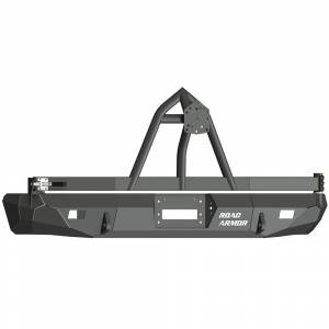 Truck Bumpers - Road Armor Stealth - Road Armor - Road Armor 61208B Stealth Winch Rear Bumper with Tire Carrier for Ford Excursion 1999-2007