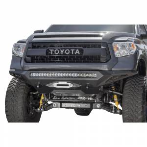 Toyota Tundra - Toyota Tundra 2014-2020 - Addictive Desert Designs - ADD F741422860103 Stealth Fighter Winch Front Bumper with Sensor Holes for Toyota Tundra 2014-2020