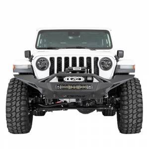 Shop Bumpers By Vehicle - Jeep Gladiator JT - Addictive Desert Designs - ADD F961692080103 Stealth Fighter Full Length Front Bumper for Jeep Gladiator JT/Wrangler JL 2018-2020