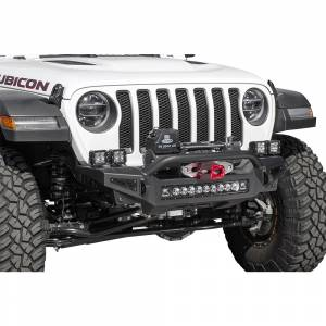 Shop Bumpers By Vehicle - Jeep Wrangler JL - Addictive Desert Designs - ADD F964902080103 Rock Fighter Winch Front Bumper with Pre-Runner for Jeep Gladiator JT/Wrangler JL 2018-2020