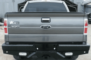 Frontier Gear Diamond Back Bumpers - Ford - Frontier Gear - Frontier Gear 100-10-8009 Rear Bumper with Sensor Holes and Lights for Ford F250/F350 2008-2016