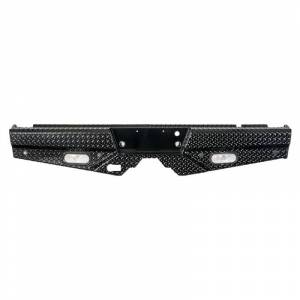 Frontier Gear Diamond Back Bumpers - Ford - Frontier Gear - Frontier Gear 100-10-9011 Rear Bumper with Sensor Holes and Lights for Ford F150 2009-2014