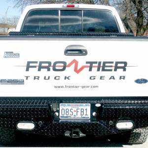 Frontier Gear - Frontier Gear 100-19-9009 Rear Bumper with Sensor Holes and Lights for Ford F250/F350 1999-2007