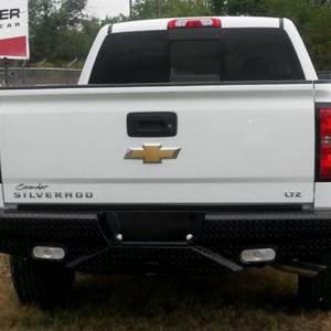 Frontier Gear - Frontier Gear 100-21-1012 Rear Bumper with Sensor Holes and No Lights for Chevy Silverado 2500 HD/3500 HD 2011-2014 - Image 2