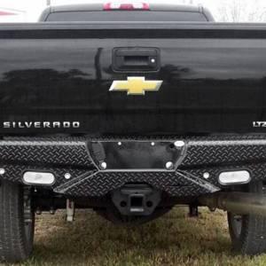Frontier Gear - Frontier Gear 100-21-1012 Rear Bumper with Sensor Holes and No Lights for Chevy Silverado 2500 HD/3500 HD 2011-2014 - Image 3