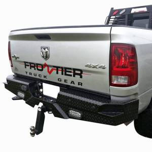 Frontier Gear - Frontier Gear 100-41-0004 Rear Bumper with Sensor Holes and Lights for Dodge Ram 1500 2010 and Ram 1500 2011-2018