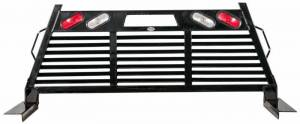 Frontier Gear - Frontier Gear 110-11-7008 Full Louvered 2HR Headache Rack with Light for Ford F250/F350 2017-2019