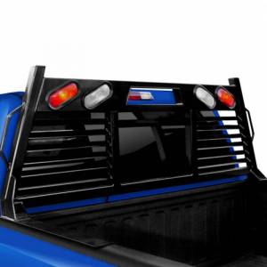 Frontier Gear - Frontier Gear 110-20-7008 Full Louvered 2HR Headache Rack with Light for Chevy Silverado 1500/2500 HD/3500 HD and GMC Sierra 1500/2500 HD/3500 HD 2007-2018 - Image 2