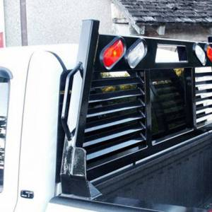 Frontier Gear - Frontier Gear 110-20-7008 Full Louvered 2HR Headache Rack with Light for Chevy Silverado 1500/2500 HD/3500 HD and GMC Sierra 1500/2500 HD/3500 HD 2007-2018 - Image 4