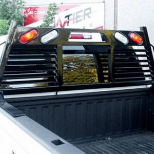 Frontier Gear - Frontier Gear 110-20-7008 Full Louvered 2HR Headache Rack with Light for Chevy Silverado 1500/2500 HD/3500 HD and GMC Sierra 1500/2500 HD/3500 HD 2007-2018 - Image 5