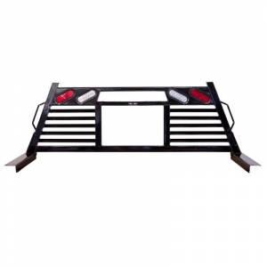 Frontier Gear - Frontier Gear 110-20-7009 Open Window 2HR Headache Rack with Light for Chevy Silverado 1500/2500 HD/3500 HD and GMC Sierra 1500/2500 HD/3500 HD 2007-2018