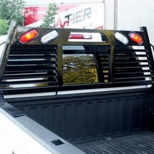 Frontier Gear - Frontier Gear 110-20-7009 Open Window 2HR Headache Rack with Light for Chevy Silverado 1500/2500 HD/3500 HD and GMC Sierra 1500/2500 HD/3500 HD 2007-2018 - Image 4