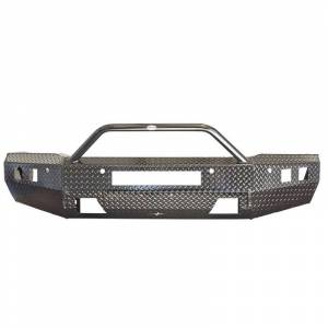 Frontier Gear - Frontier Gear 140-21-5012 Sport Front Bumper with Sensor Holes and Light Bar Compatible for Chevy Silverado 2500HD/3500 2015-2019