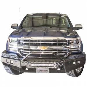 Frontier Gear - Frontier Gear 140-21-6013 Sport Front Bumper with Cube Light and Light Bar Compatible for Chevy Silverado 1500 2016-2017