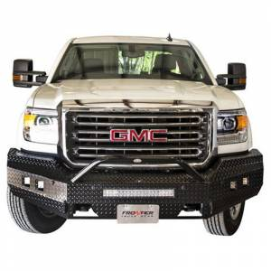 Frontier Gear - Frontier Gear 140-31-6013 Sport Front Bumper with Cube Light and Light Bar Compatible for GMC Sierra 1500 2016-2017