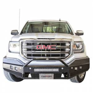 Frontier Gear - Frontier Gear 140-31-6014 Sport Front Bumper with Cube Light and Light Bar Compatible for GMC Sierra 1500 2016-2018