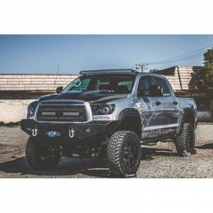 Expedition One - Expedition One TT07-13-FB RangeMax Winch Front Bumper for Toyota Tundra 2007-2013 - Bare Steel