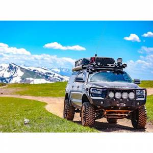 Expedition One - Expedition One TT07-13-FB-BB-BARE RangeMax Winch Front Bumper with Bull Bar for Toyota Tundra 2007-2013 - Bare Steel
