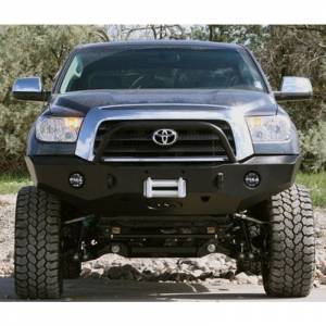 Expedition One - Expedition One TT07-13-FB-H-BARE RangeMax Winch Front Bumper with Hoop for Toyota Tundra 2007-2013 - Bare Steel