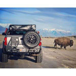 Toyota Tundra - Toyota Tundra 2014-2020 - Expedition One - Expedition One EXOTT14RB-DSTC_PC Rear Bumper with Dual Swing-Out for Toyota Tundra 2014-2020 - Textured Black