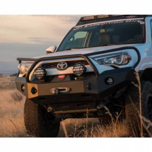 Shop Bumpers By Vehicle - Toyota 4Runner - Expedition One - Expedition One 4RFB100_BB_BARE Front Bumper with Full Grille Guard for Toyota 4Runner 2014-2019 - Bare Steel