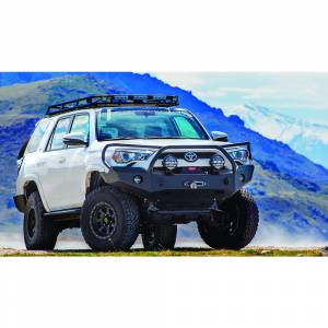 Shop Bumpers By Vehicle - Toyota 4Runner - Expedition One - Expedition One 4RFB100_H_PC Base Front Bumper with Single Center Hoop for Toyota 4Runner 2014-2019 - Textured Black