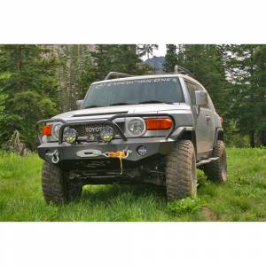 Expedition One FJCFB100_DM Trail Series Diamond Front Bumper for Toyota FJ Cruiser 2007-2010 - Bare Steel