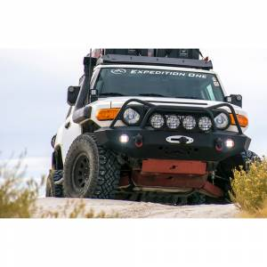 Expedition One FJCFB100_DM_PC Trail Series Diamond Front Bumper for Toyota FJ Cruiser 2007-2010 - Textured Black